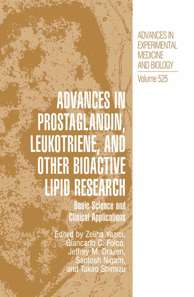 Advances in Prostaglandin, Leukotriene, and other Bioactive Lipid Research als Buch