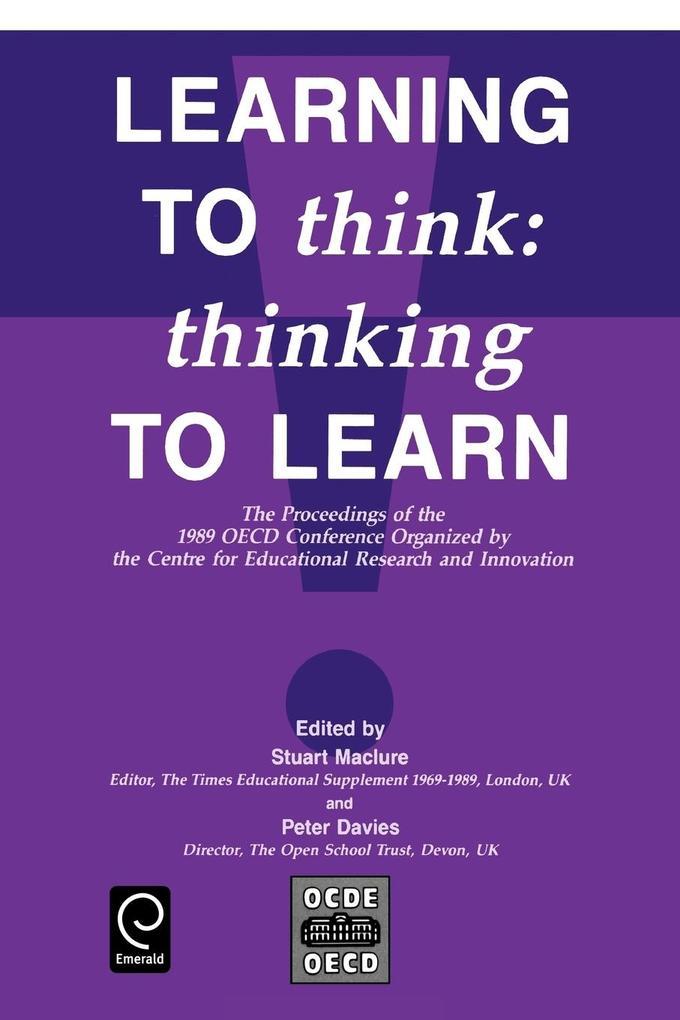 Learning to Think als Taschenbuch