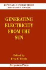 Generating Electricity from the Sun als Buch