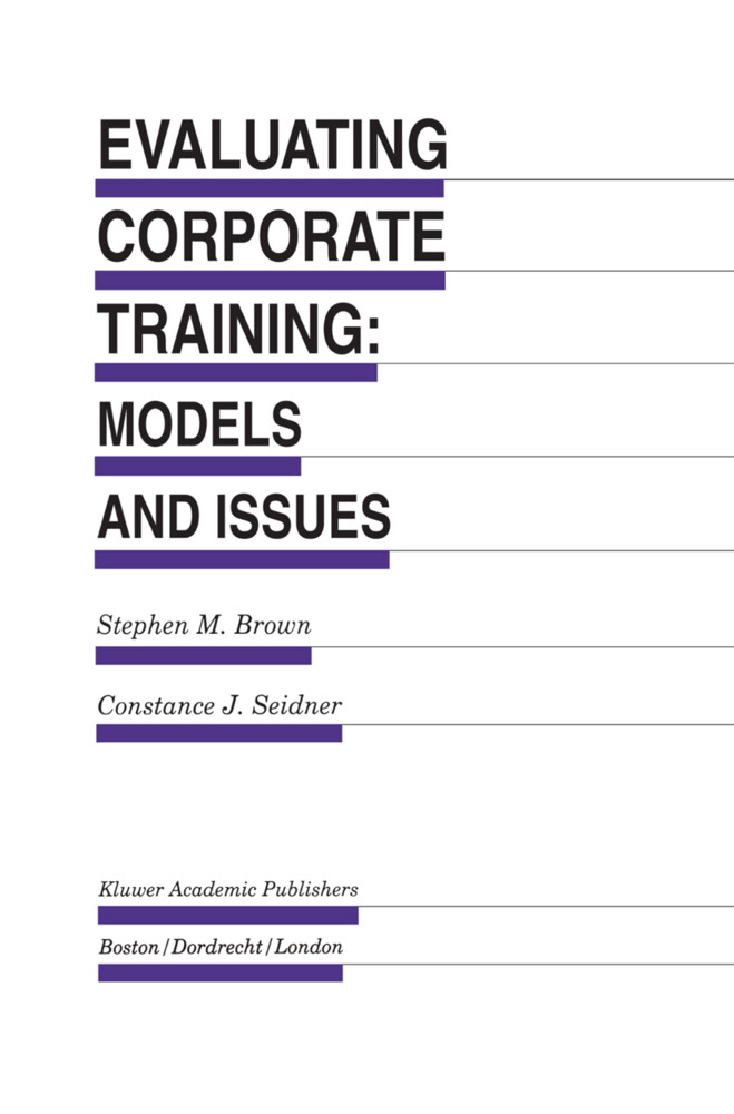 Evaluating Corporate Training: Models and Issues als Buch