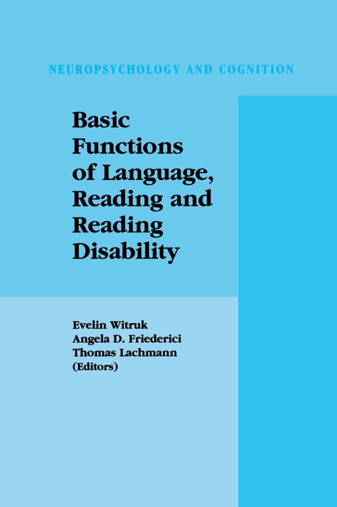 Basic Functions of Language, Reading and Reading Disability als Buch