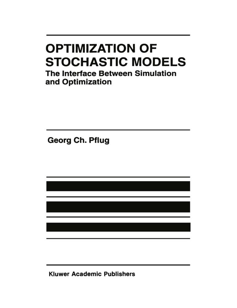 Optimization of Stochastic Models als Buch