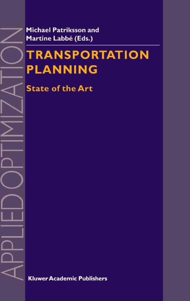 Transportation Planning als Buch
