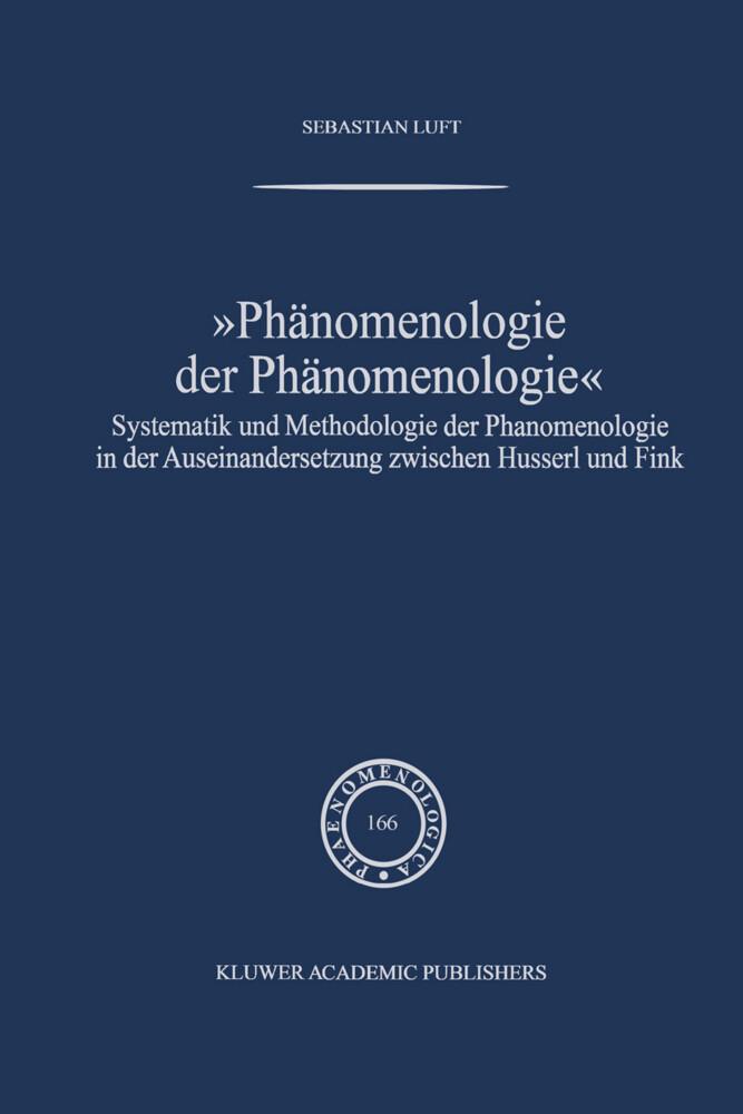 Phänomenologie der Phänomenologie als Buch
