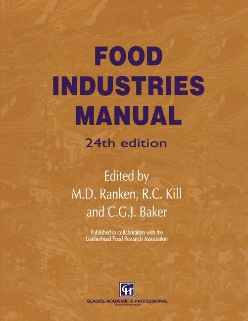 Food Industries Manual als Buch