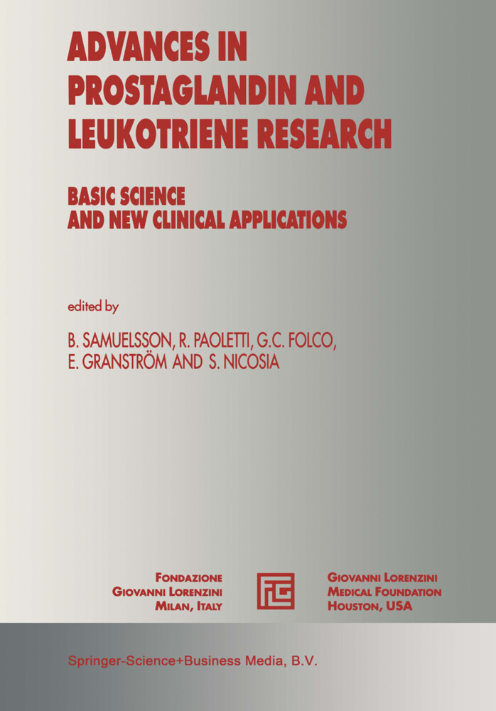 Advances in Prostaglandin and Leukotriene Research als Buch