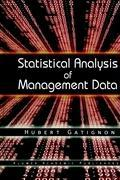 Statistical Analysis of Management Data als Buch