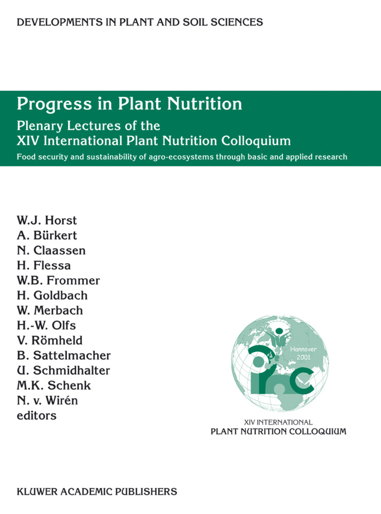 Progress in Plant Nutrition: Plenary Lectures of the XIV International Plant Nutrition Colloquium als Buch