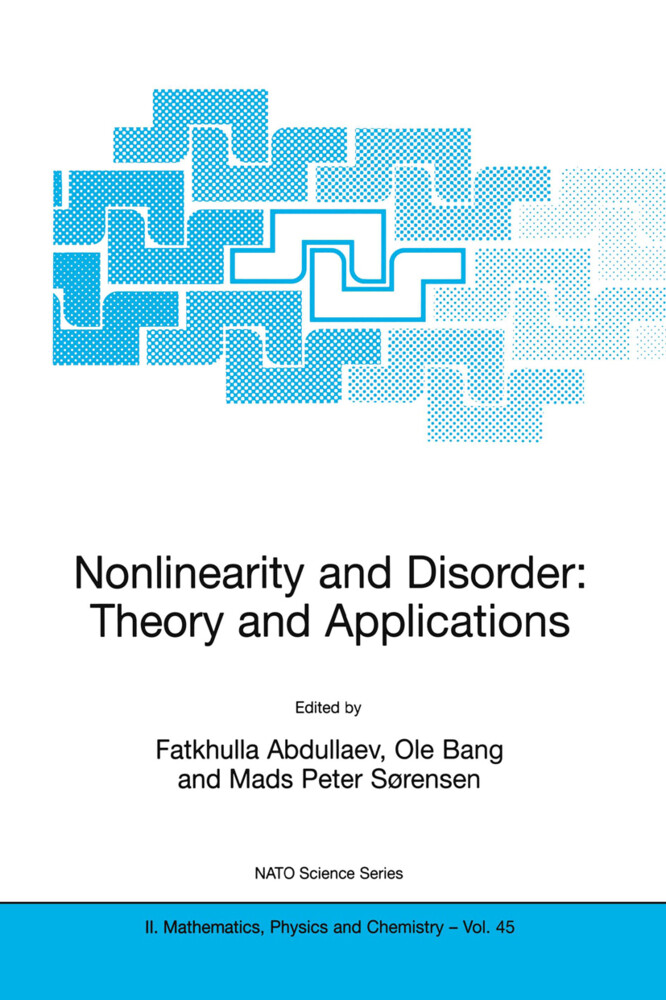 Nonlinearity and Disorder: Theory and Applications als Buch