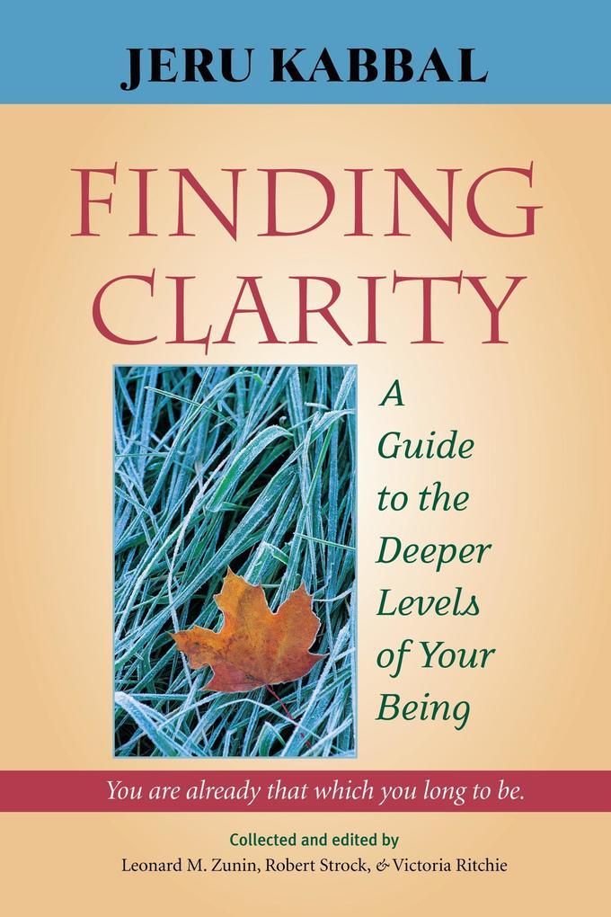 Finding Clarity als Taschenbuch