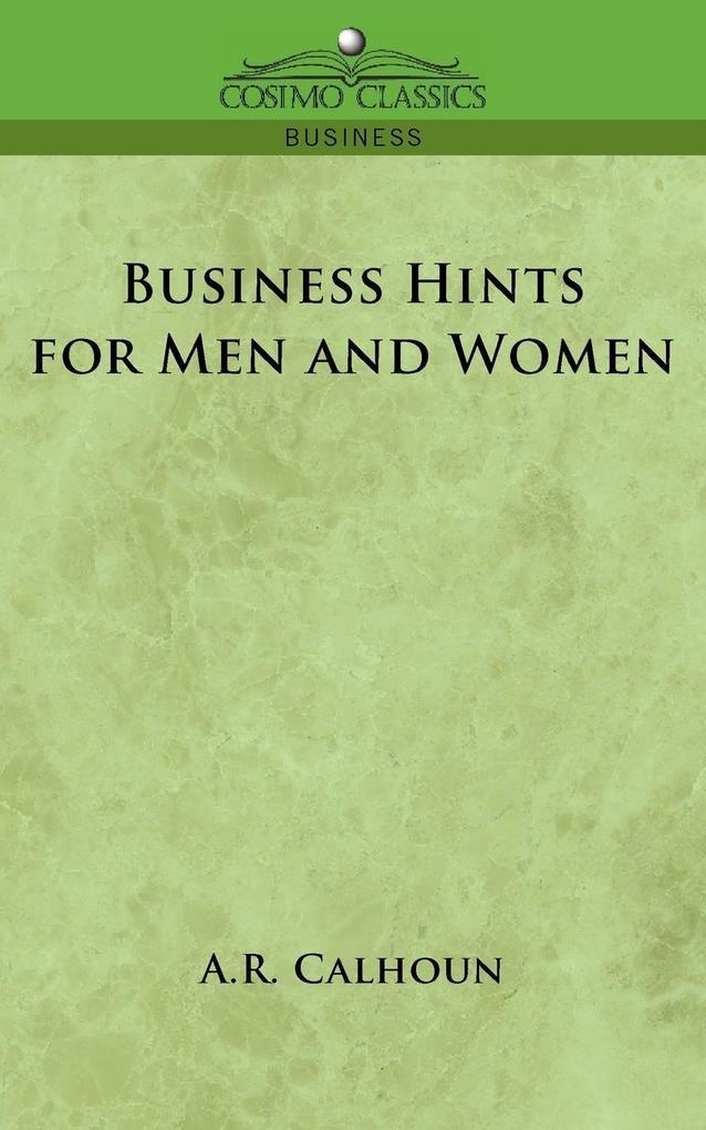 Business Hints for Men and Women als Taschenbuch