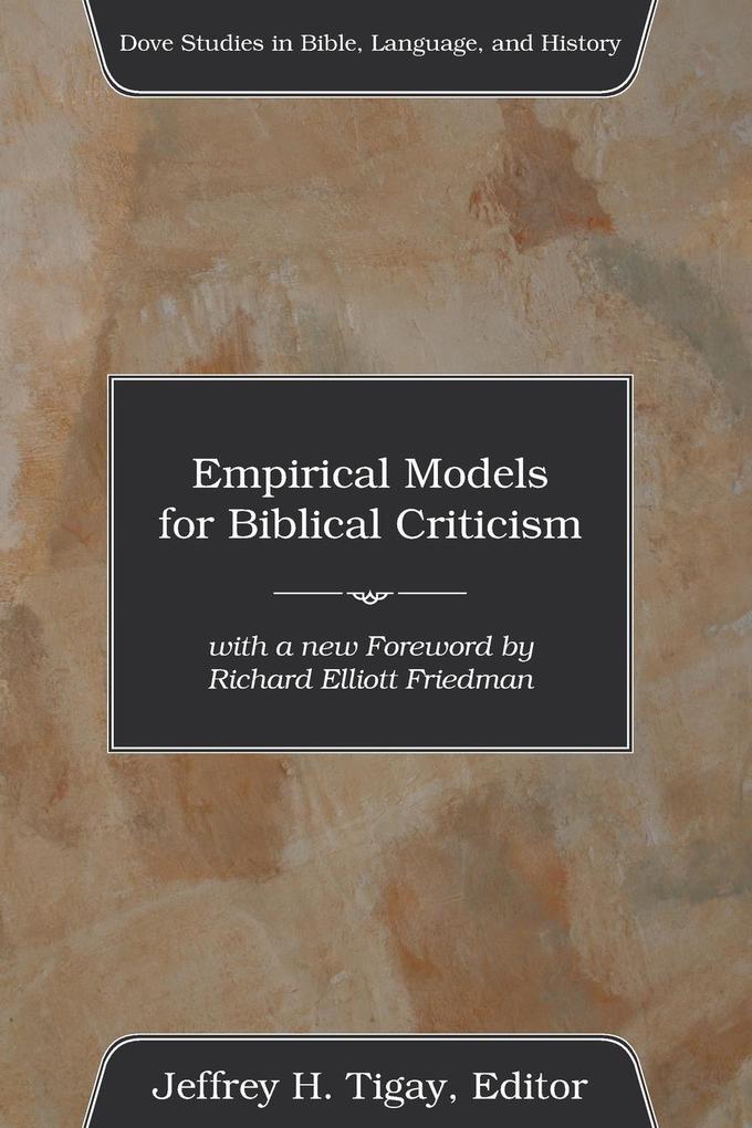 Empirical Models for Biblical Criticism als Taschenbuch