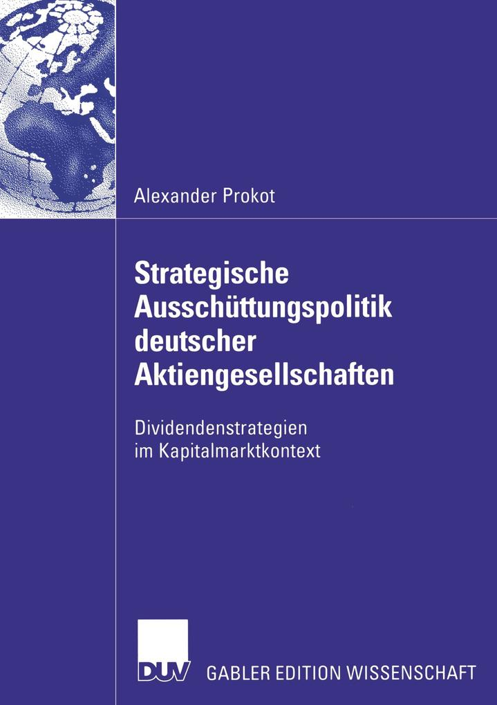 Strategische Ausschüttungspolitik deutscher Akt...