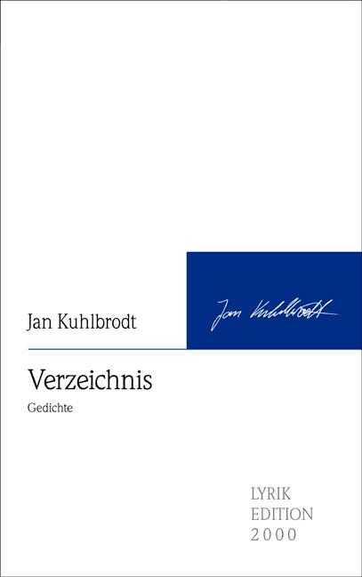 Verzeichnis als Buch von Jan Kuhlbrodt