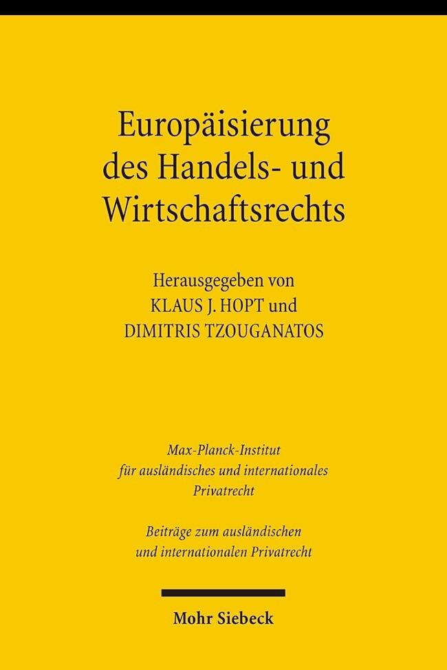 Europäisierung des Handels- und Wirtschaftsrech...