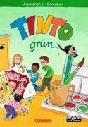 Tinto grün Arbeitsheft 1 Schreiben mit Anlauttabelle CD-ROM. Grüne Ausgabe