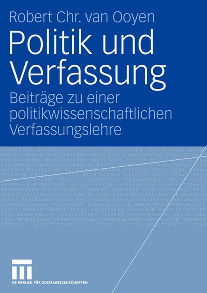 Politik und Verfassung als Buch von Robert Chr....