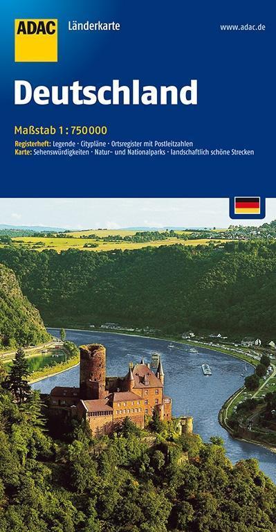 ADAC LänderKarte Deutschland 1 : 750 000 als Bu...