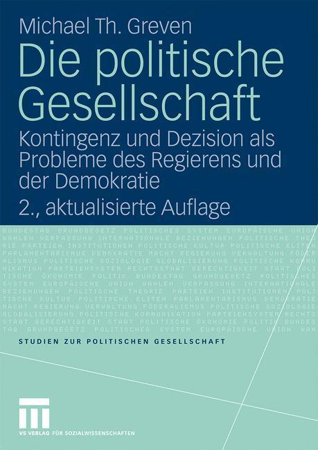 Die politische Gesellschaft als Buch von Michae...