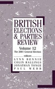 British Elections & Parties Review: The 2001 General Election