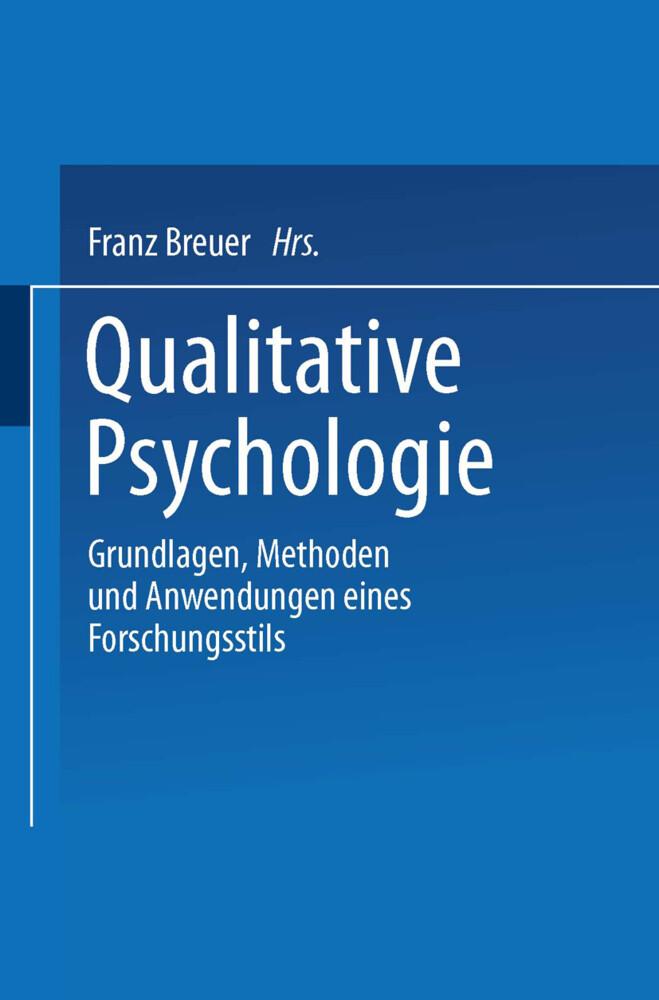 Qualitative Psychologie als Buch von