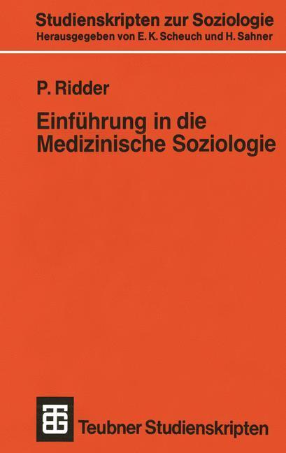 Einführung in die Medizinische Soziologie als B...