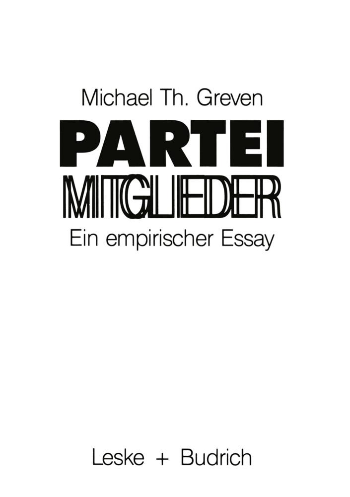 Parteimitglieder als Buch von Michael Th. Greven