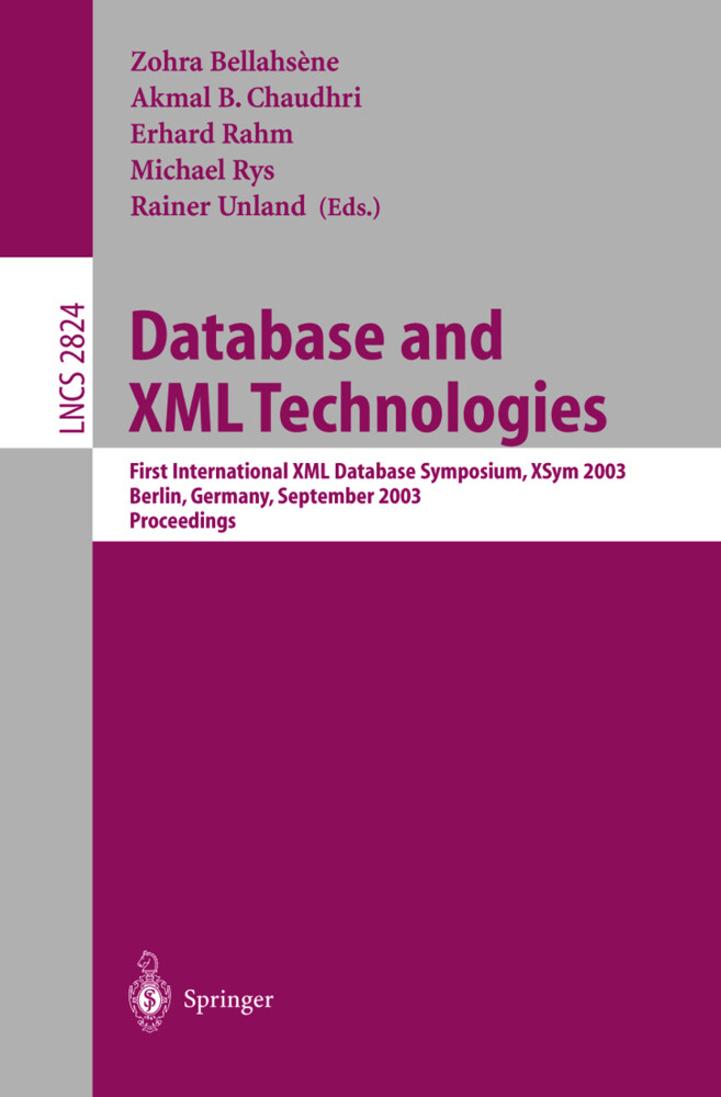 Database and XML Technologies als Buch von