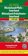 Freytag & Berndt Autokarte Rheinland-Pfalz, Saarland / Rhineland-Palatinate, Saarland. Rhénanie-Pala