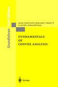 Fundamentals of Convex Analysis