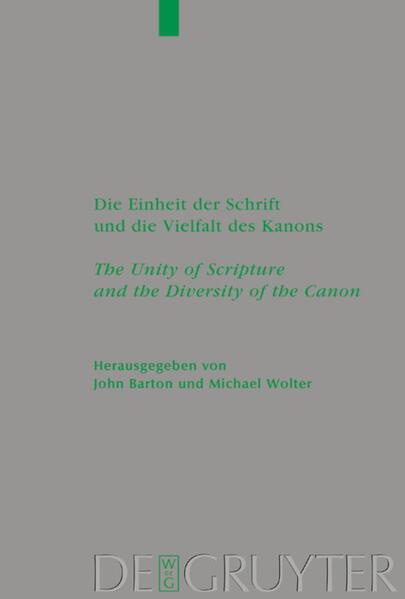 Die Einheit der Schrift und die Vielfalt des Ka...