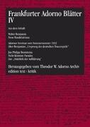 Frankfurter Adorno Blätter 4