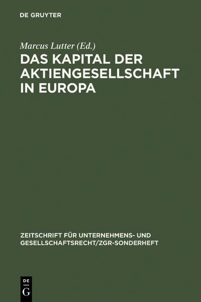 Das Kapital der Aktiengesellschaft in Europa al...