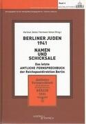 Berliner Juden 1941 - Namen und Schicksale
