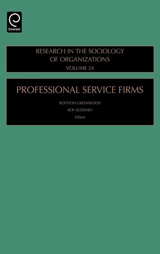 Professional Service Firms als Buch von