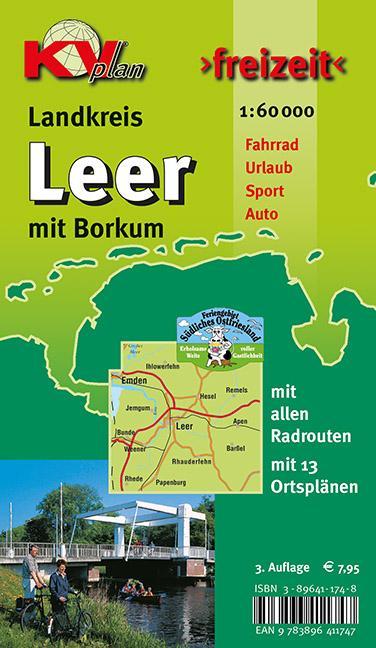 Freizeit Landkreis Leer mit Borkum 1 : 60 000 a...