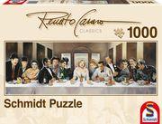 Schmidt Spiele - Puzzle - Panorama Renato Casaro - Dinner der Berühmten, 1000 Teile