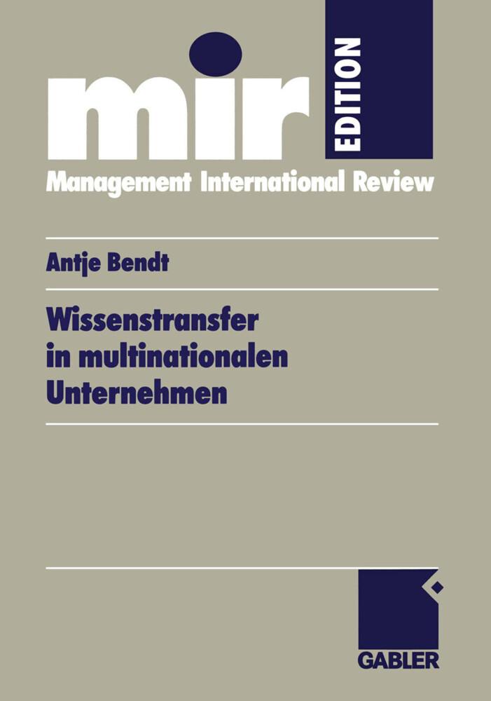 Wissenstransfer in multinationalen Unternehmen ...