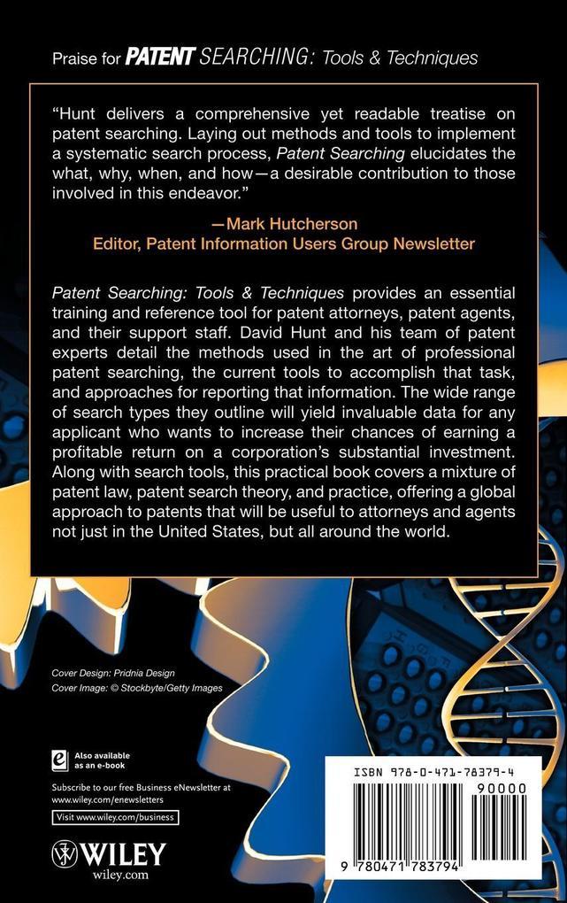 Patent Searching als Buch von Hunt, Nguyen, Rod...