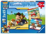 Ravensburger Spiel - Paw Patrol - Helden mit Fell, 3x49 Teile