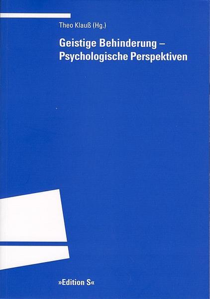 Geistige Behinderung - Psychologische Perspektiven als Buch