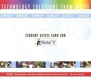 WebCT Student Access Card
