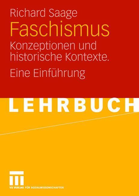Faschismus als Buch von Richard Saage