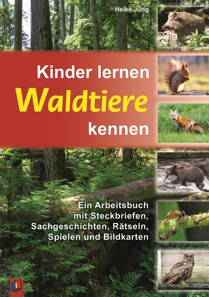 Kinder lernen Waldtiere kennen als Buch