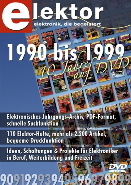 Elektor-DVD 1990-1999. DVD-ROM für Windows