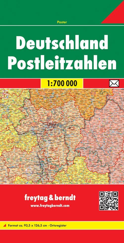Deutschland 1 : 700 000. Postleitzahlenkarte al...