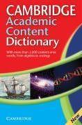 Cambridge Academic Content Dictionary