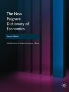 New Palgrave Dictionary of Economic