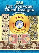 346 Art Nouveau Floral Designs CD-ROM and Book