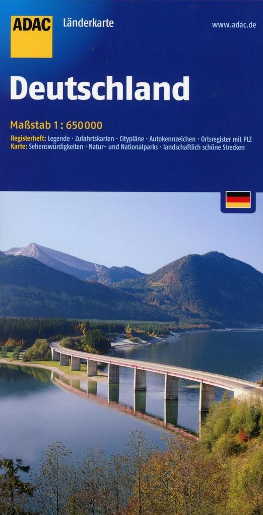 ADAC LänderKarte Deutschland 1 : 650 000 als Bu...